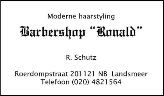 Barbershop Ronald